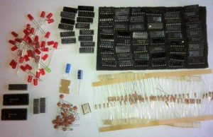 MARK-8 minicomputer semiconductor parts, resistors, leds and more