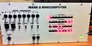 MARK-8 replica computer frontpanel